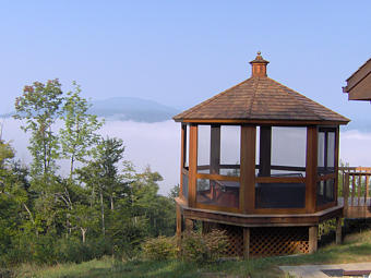 Mahogany Gazebo above the clouds